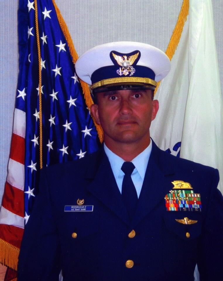 A photograph of LCDR Jose Luis Rodriguez, USCG