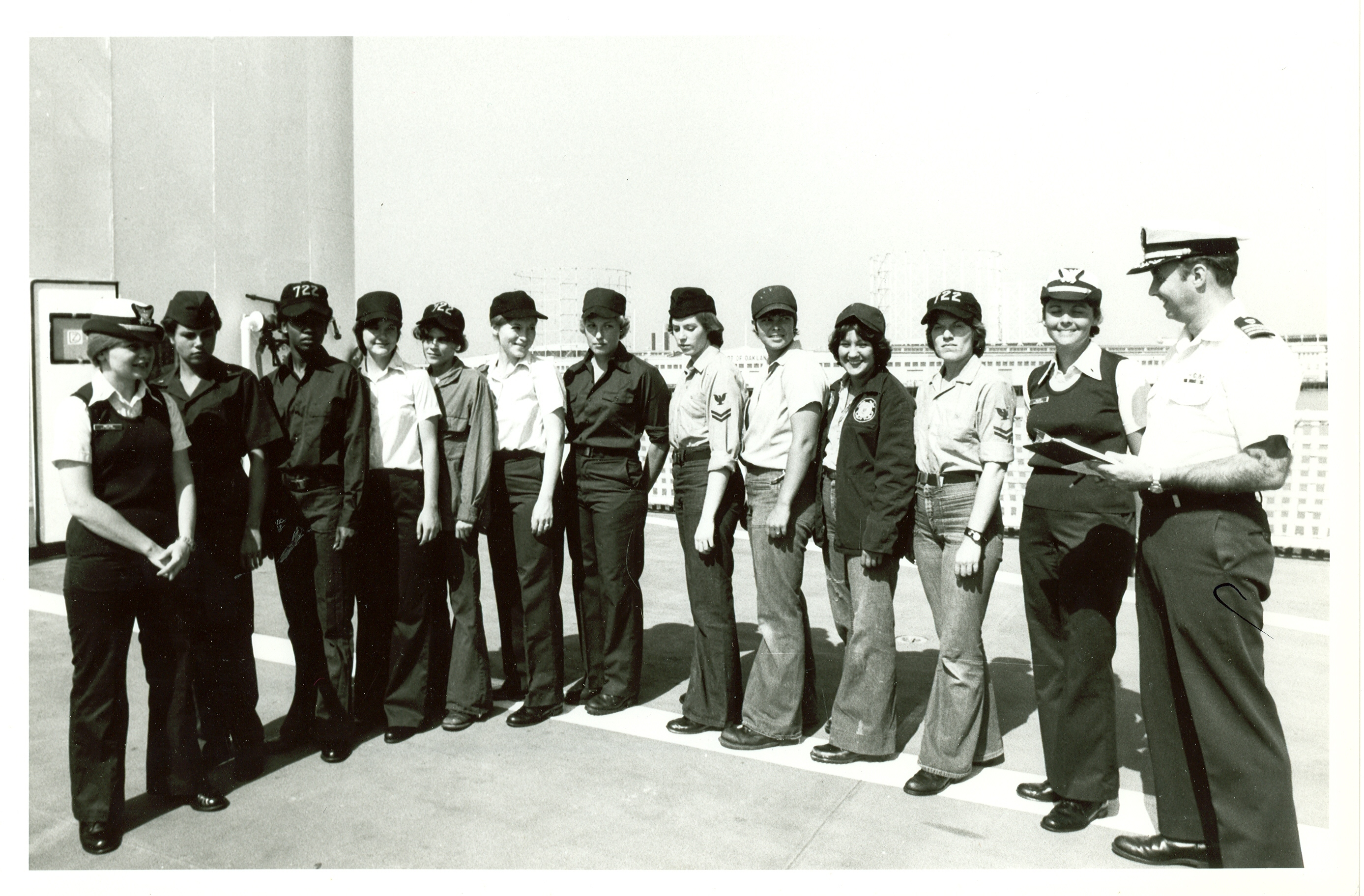 The first 12 Coast Guard women assigned to sea duty.