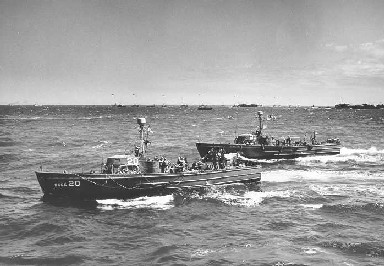 A photo of a Coast Guard cutter at Normandy